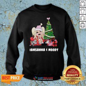 Nice Girl And Gift Under Christmas Tree I Am Sanna Moody Sweatshirt