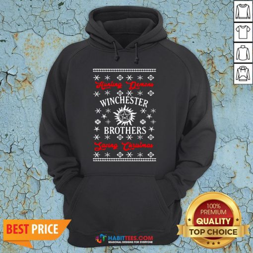 Nice Hunting Demon Winchester Brothers Living Christmas Hoodie