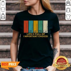 Nice Life Is Full of Important Choices Golf Player Funny Novelty Men's Cotton V-neck - Design By Habittees.com