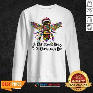 Nice Oh Christmas Bee Light Sweatshirt