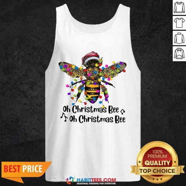 Nice Oh Christmas Bee Light Tank Top
