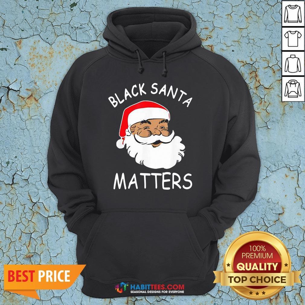Official African American Santa Black Matters Christmas Hoodie