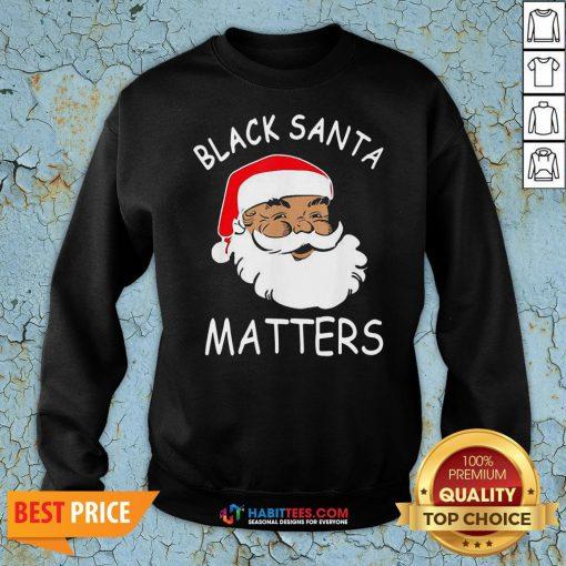 Official African American Santa Black Matters Christmas Sweatshirt