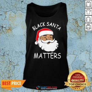 Official African American Santa Black Matters Christmas Tank Top