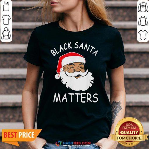 Official African American Santa Black Matters Christmas V-neck