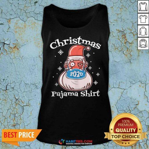 Official Christmas Pajamas Santa With Face Mask 2020 Xmas Tank Top