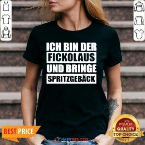Official Ich Bin Der Fickolaus Und Bringe Spritzgebäck V-neck