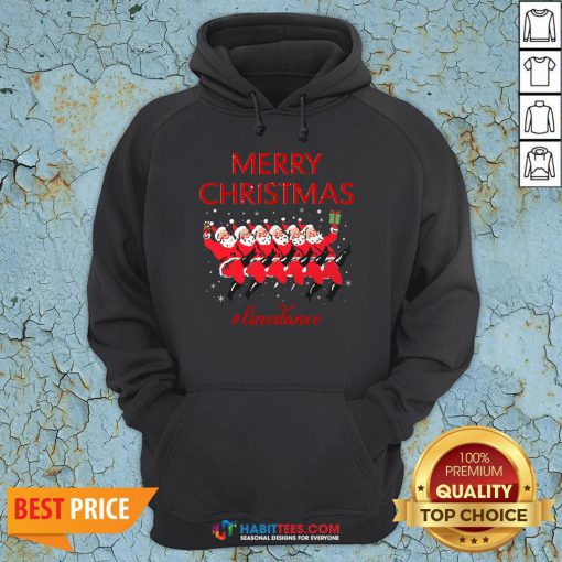 Official Merry Christmas Linedance Santa Claus Hoodie