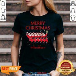 Official Merry Christmas Linedance Santa Claus V-neck