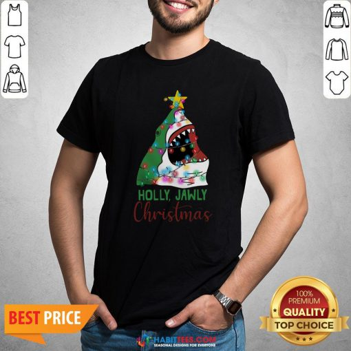 Official Shark Holly Jawly Christmas Shirt - Design By Habittees.com