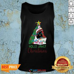 - Design By Habittees.comOfficial Shark Holly Jawly Christmas Tank Top