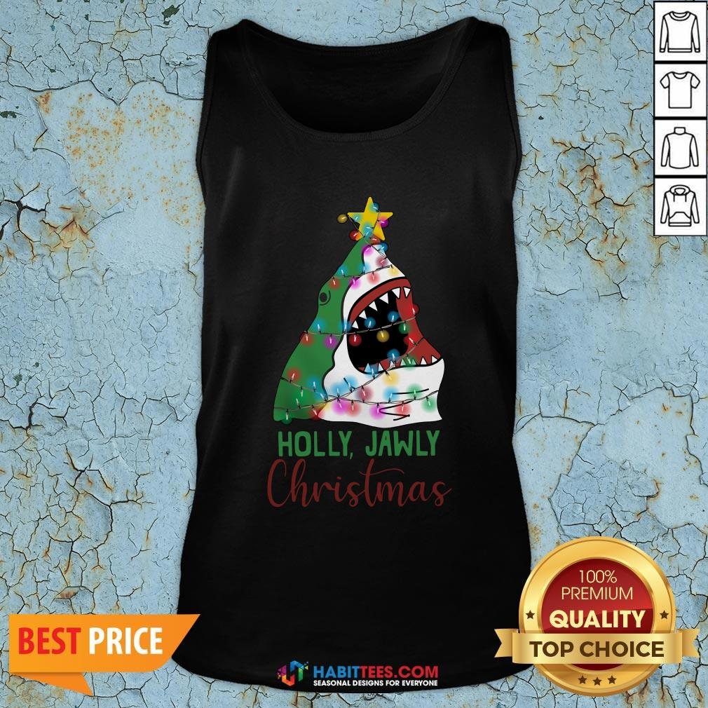 Official Shark Holly Jawly Christmas Tank Top - Design By Habittees.com