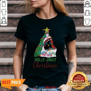 Official Shark Holly Jawly Christmas V-neck - Design By Habittees.com