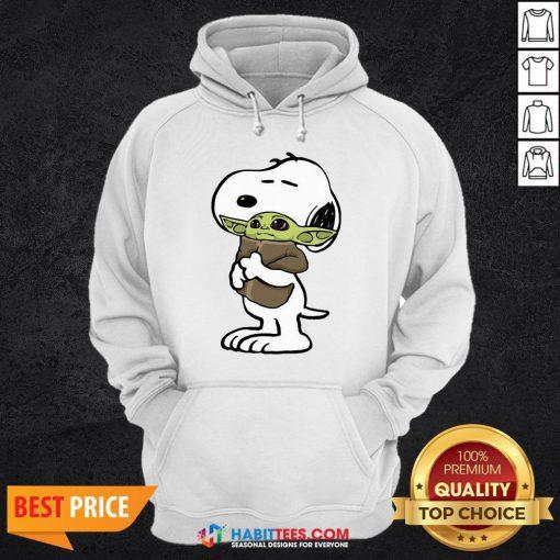 Official Snoopy Hug Baby Yoda Hoodie
