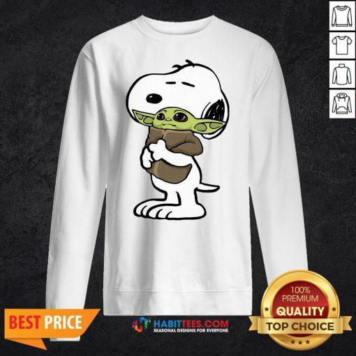 Official Snoopy Hug Baby Yoda Sweatshirt