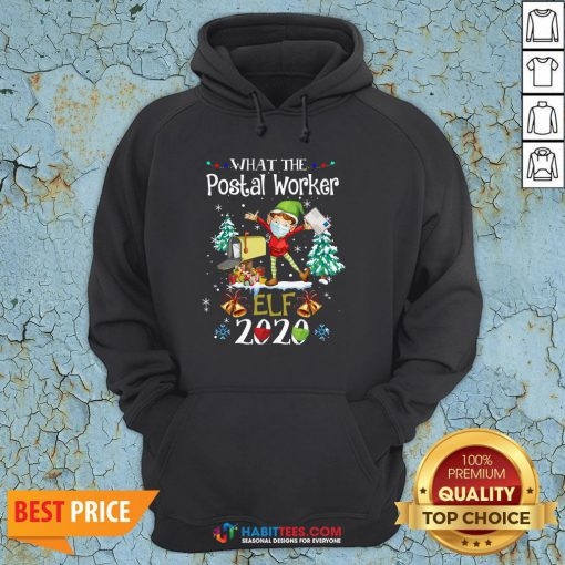 Official What The Postal Worker Elf Christmas Hoodie - Design By Habittees.com