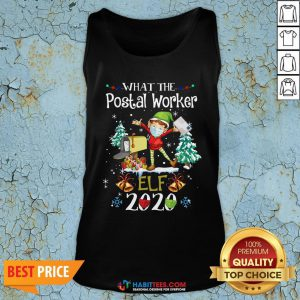 Official What The Postal Worker Elf Christmas Tank Top - Design By Habittees.com