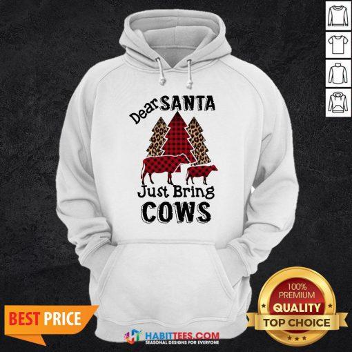 Offiical Dear Santa Just Bring Cows Christmas Tree Hoodie