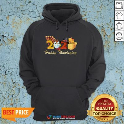 Perfect Happy Thanksgiving 2020 Turkey Wearing Mask Toilet paper Hoodie - Design By Habittees.com