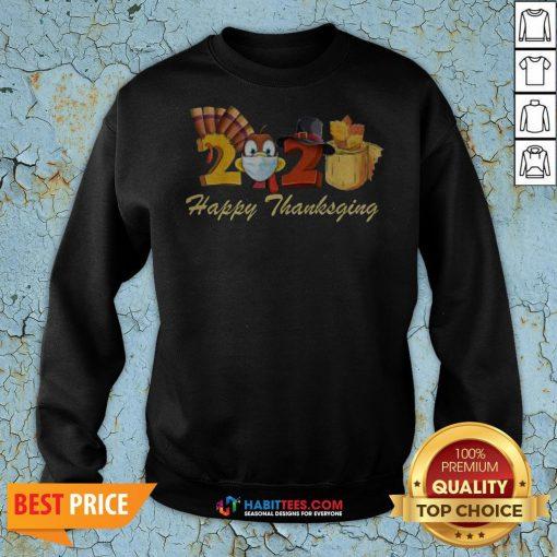 Perfect Happy Thanksgiving 2020 Turkey Wearing Mask Toilet paper Sweatshirt - Design By Habittees.com