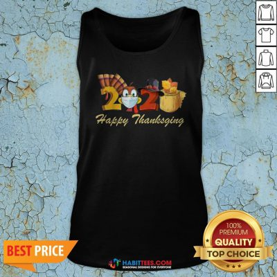 Perfect Happy Thanksgiving 2020 Turkey Wearing Mask Toilet paper Tank Top - Design By Habittees.com