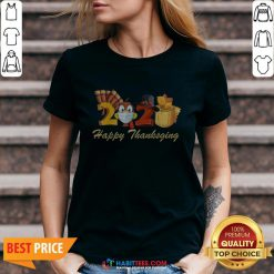 Perfect Happy Thanksgiving 2020 Turkey Wearing Mask Toilet paper V-neck - Design By Habittees.com