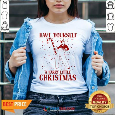 Perfect Have Yourself A Harry Little Christmas V-neck - Design By Habittees.com