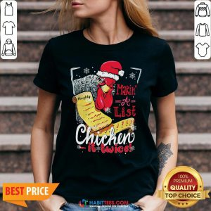 Perfect Making A List Chicken It Twice Christmas V-neck - Design By Habittees.com