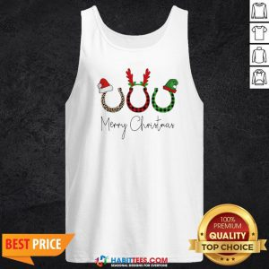 Perfect Santa Reindeer Horse Merry Christmas Sweater Tank Top - Design By Habittees.com