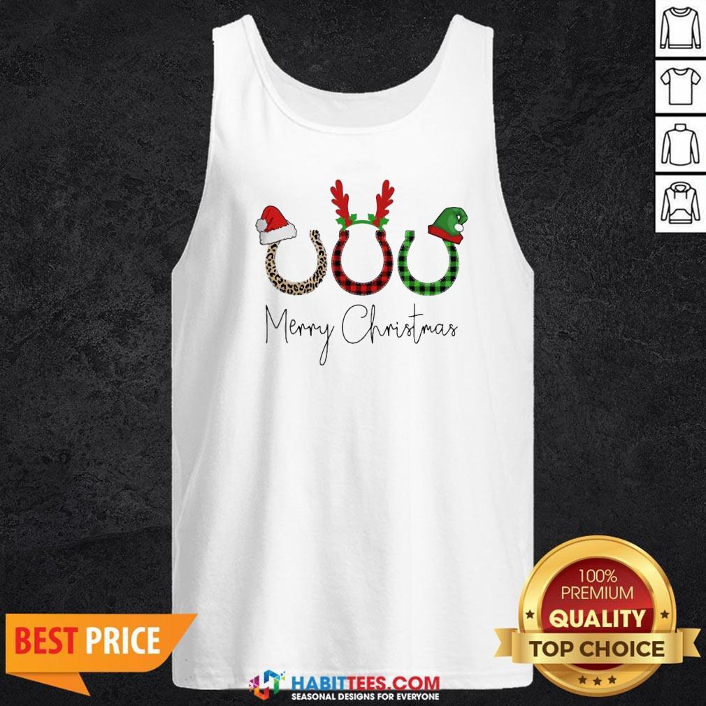 Perfect Santa Reindeer Horse Merry Christmas Sweater Tank Top - Design By Habittees.com