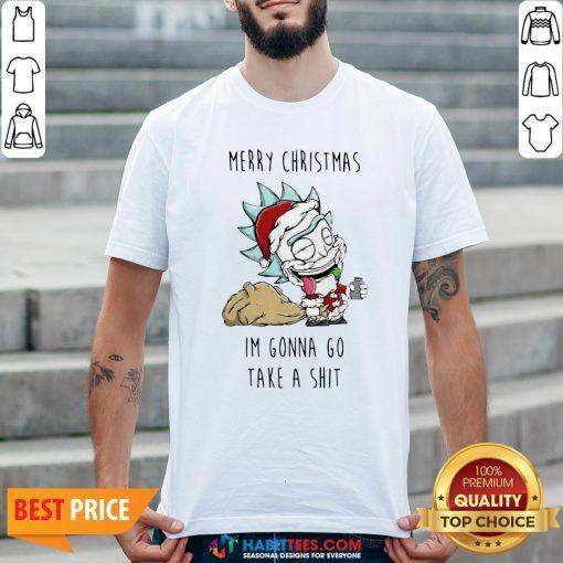 Perfect Santa Rick Merry Christmas I'm Gonna Go Take A Shit Shirt - Design By Habittees.com