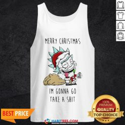 Perfect Santa Rick Merry Christmas I'm Gonna Go Take A Shit Tank Top - Design By Habittees.com