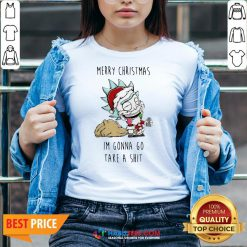 Perfect Santa Rick Merry Christmas I'm Gonna Go Take A Shit V-neck - Design By Habittees.com