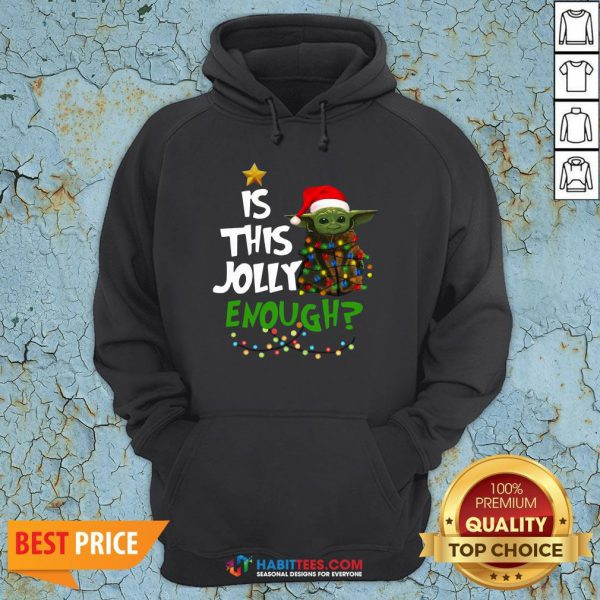 Premium Baby Yoda In Light Christmas Is This Jolly Enough Hoodie