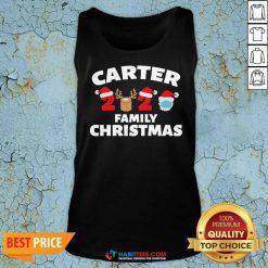 Premium Carter Family Christmas 2020 Matching Santa Clause Mask Tank Top