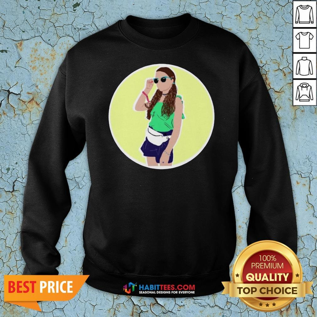 Premium Hayley LeBlanc Cartoon Circle Sweatshirt