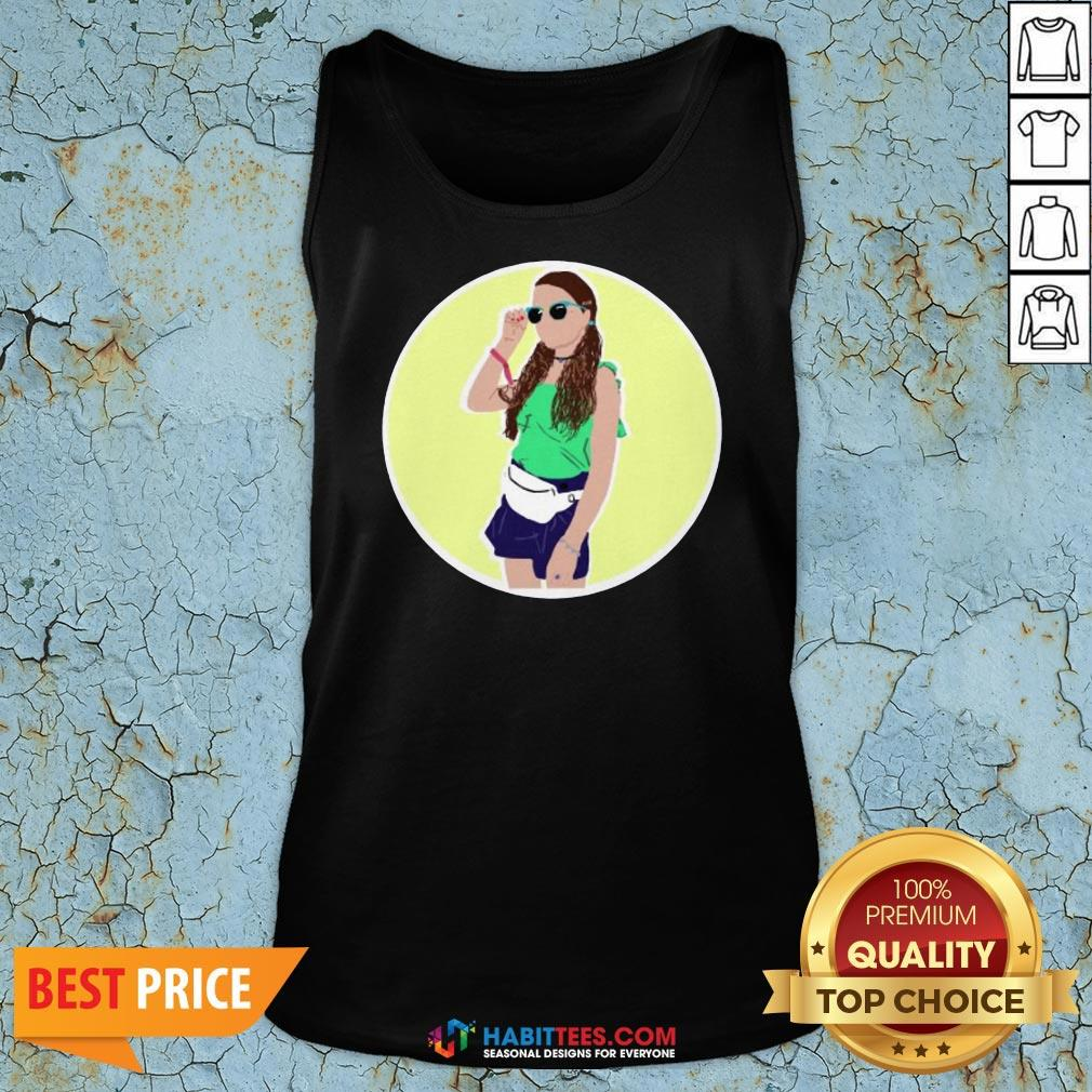 Premium Hayley LeBlanc Cartoon Circle Tank Top