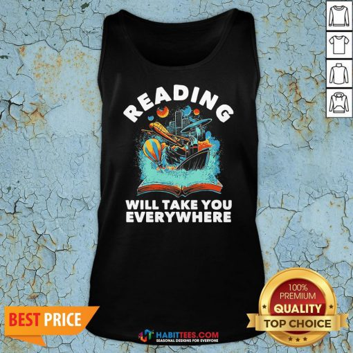 Premium Librarian Reading Will Take You Anywhere Tank Top
