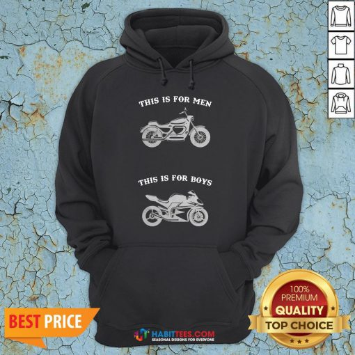 Premium Motorcycle This Is For Men This Is For Boys Hoodie