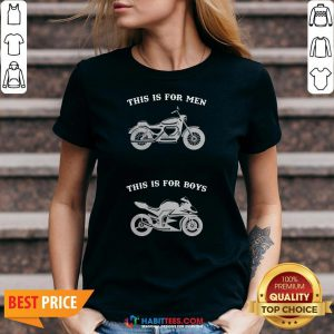 Premium Motorcycle This Is For Men This Is For Boys V-neck