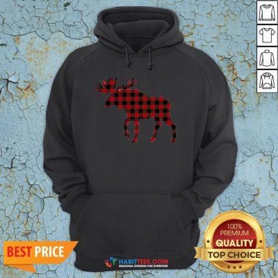 Premium Plaid Reindeer 2020 Hoodie - Design By Habittees.com