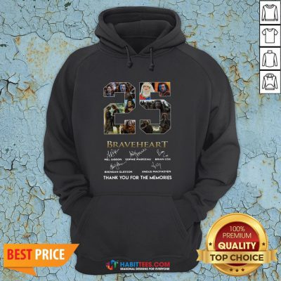 Pro 25 Years Of Braveheart 1995 2020 Thank You For The Memories Signatures Hoodie - Design By Habittees.com
