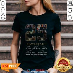 - Design By Habittees.comPro 25 Years Of Braveheart 1995 2020 Thank You For The Memories Signatures V-neck