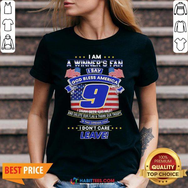 Pro I Am A Winner's Fan I Say God Bless America 9 I Drink Beer Eat Meat V-neck - Design By Habittees.com