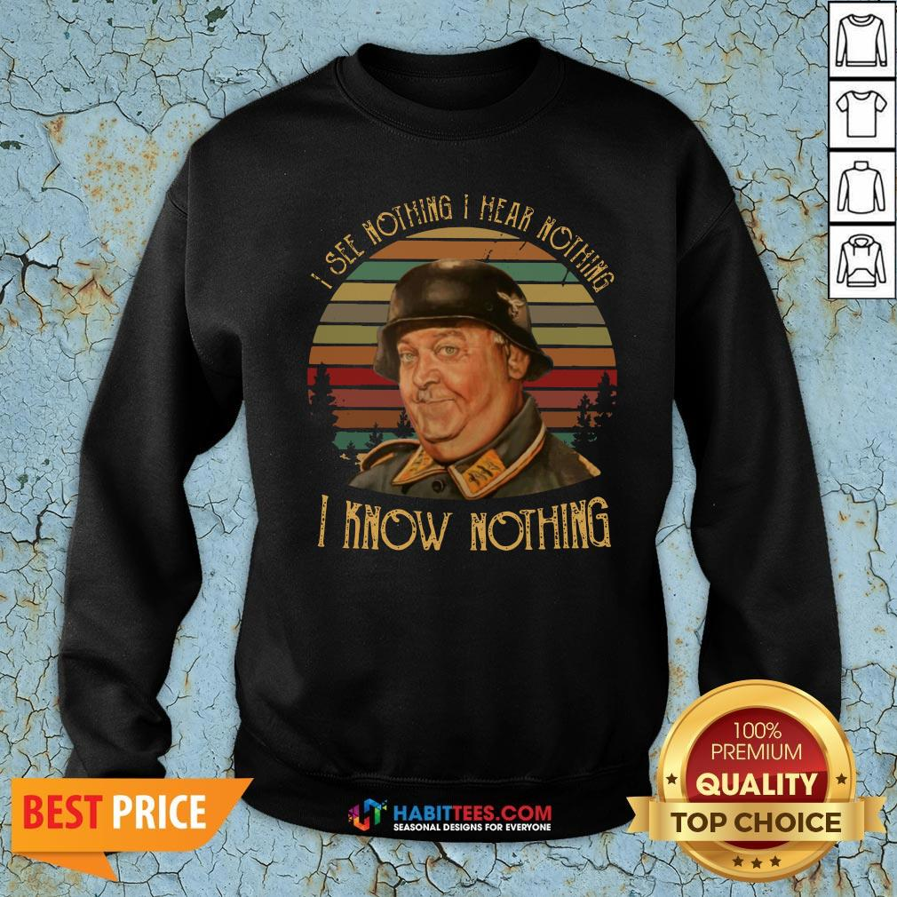 Pro John Banner I See Nothing I Hear Nothing I Know Nothing Vintage Sweatshirt - Design By Habittees.com