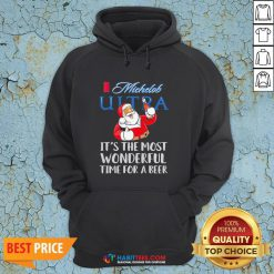 Pro Santa Claus Drinking Michelob Ultra It's The Most Wonderful Time For A Beer Hoodie - Design By Habittees.com