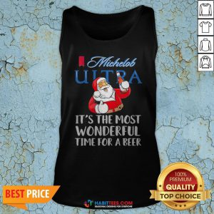 Pro Santa Claus Drinking Michelob Ultra It's The Most Wonderful Time For A Beer Tank Top - Design By Habittees.com