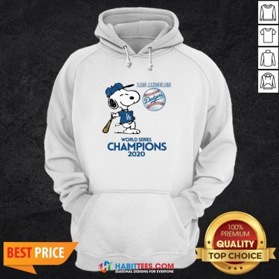 Pro Snoopy Play Baseball Los Angeles Dodgers World Series Champions 2020 Hoodie - Design By Habittees.com