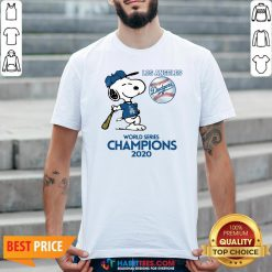Pro Snoopy Play Baseball Los Angeles Dodgers World Series Champions 2020 Shirt - Design By Habittees.com