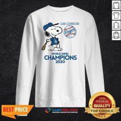 Pro Snoopy Play Baseball Los Angeles Dodgers World Series Champions 2020 Sweatshirt - Design By Habittees.com